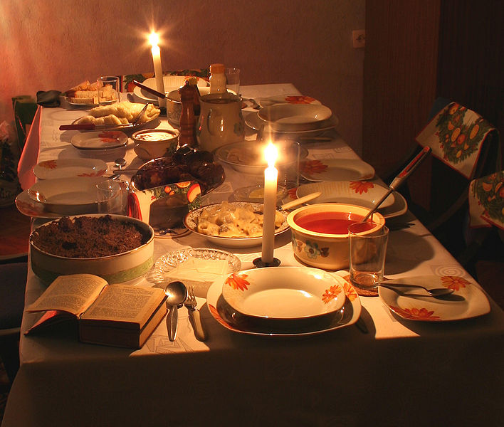 Everyone gathers at the dinner table as soon as the first star appears